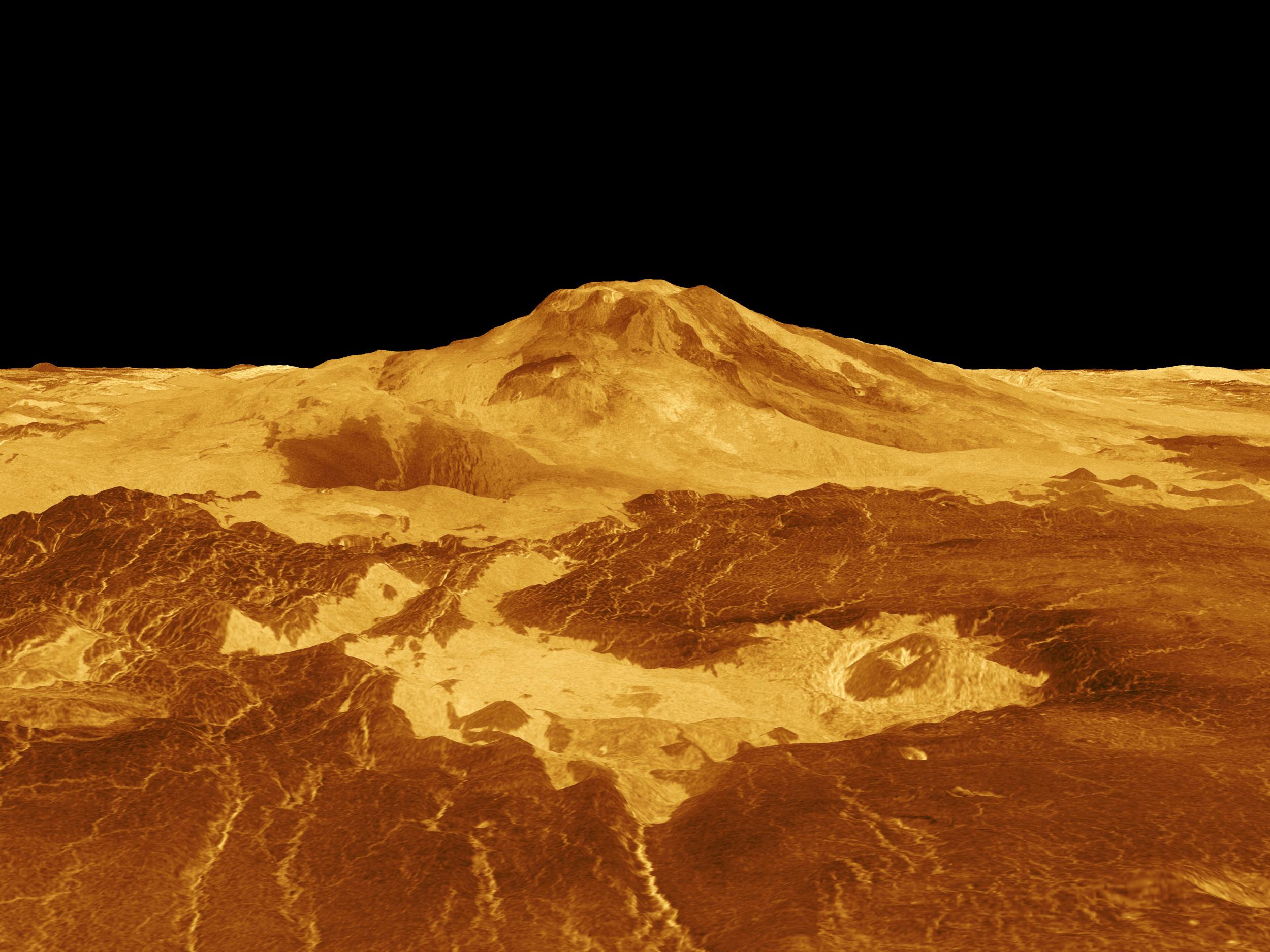البراكين على كوكب الزهرة ما تزال نشطة - كوكب الزهرة ما يزال نشطًا جيولوجيًا - أحد البراكين النشطة اليوم على سطح كوكب الزّهرة