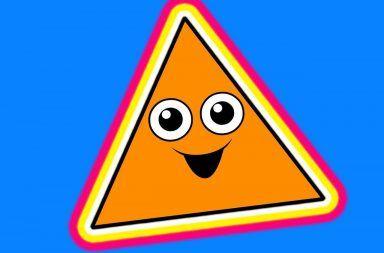 مجموع زوايا المثلث ليس 180 درجة دائماً