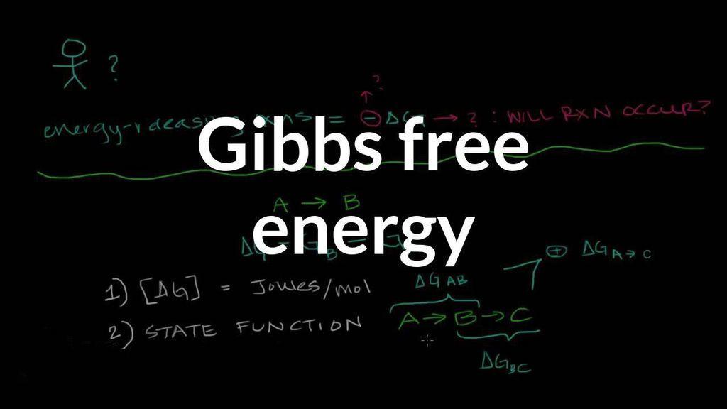 ما هي طاقة جيبس الحرة في الكيمياء ؟