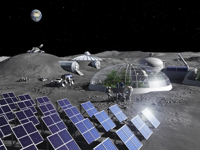 قد يكون بول رواد الفضاء أفضل مادة لبناء قواعد القمر المستقبلية - منصات الهبوط الصغيرة على سطح القمر - الحطام الصخري - الخرسانة الجيوبوليمرية