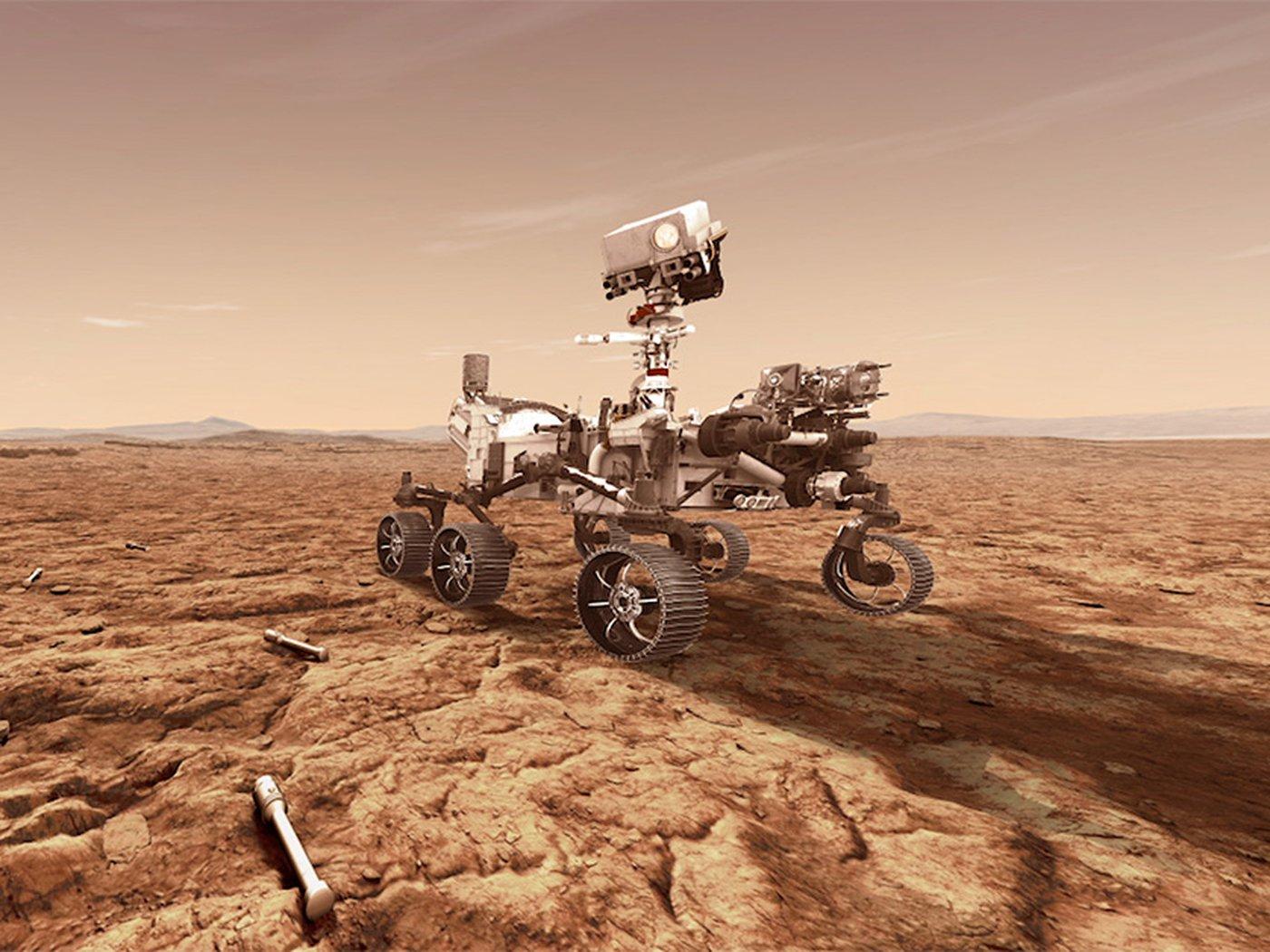 أخيرًا بيرسيفرنس تعيد عينة من المريخ إلى الأرض