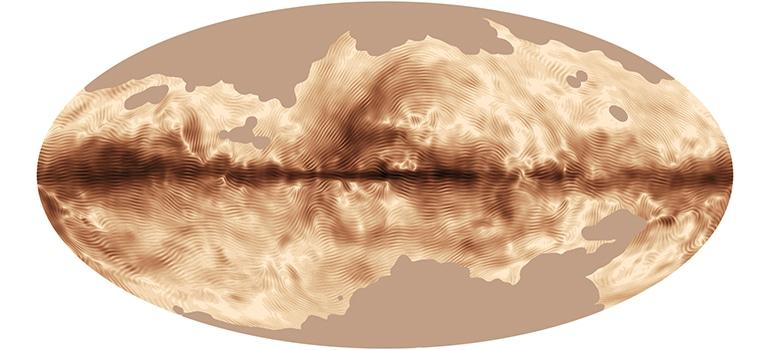 تلسكوب بلانك يكشف عن خريطة المجال المغناطيسي لمجرتنا