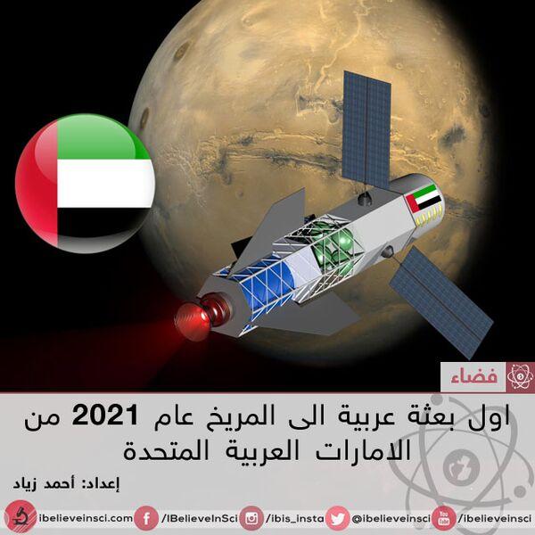 بعثة الإمارات العربية المتحدة إلى المريخ ستكون بحلول 2021
