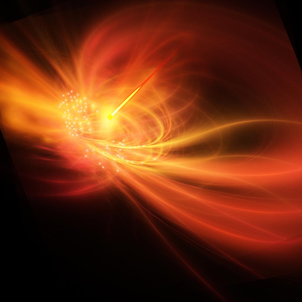 يؤدي انفجار المستعر الأعظم إلى انفجار أشعة غاما الساطعة