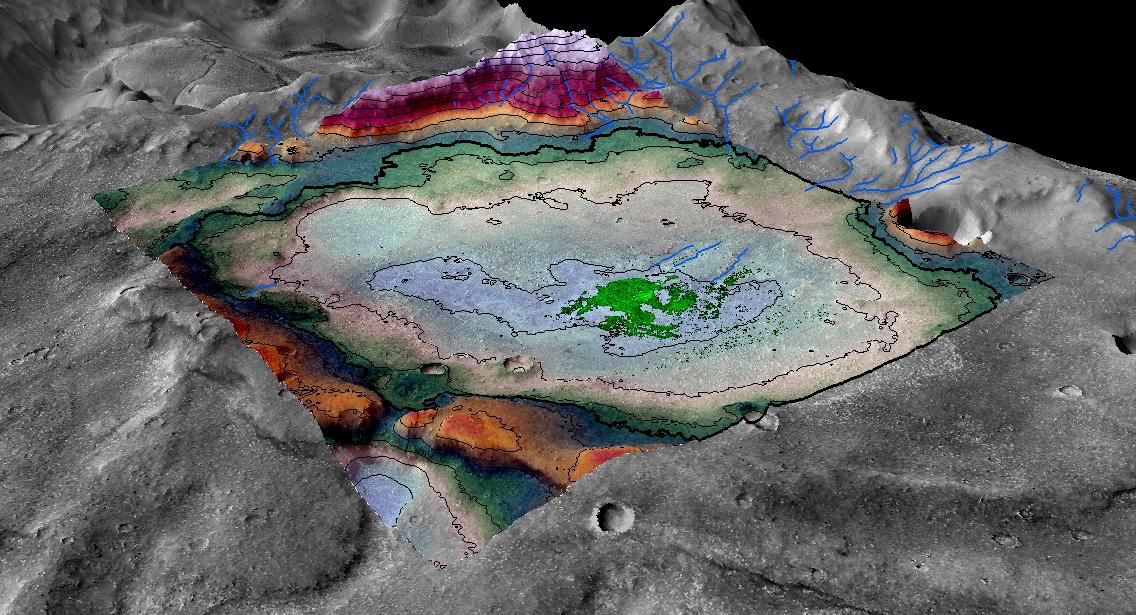 البحيرة القديمة على سطح المريخ تحولت إلى بحيرة مالحة
