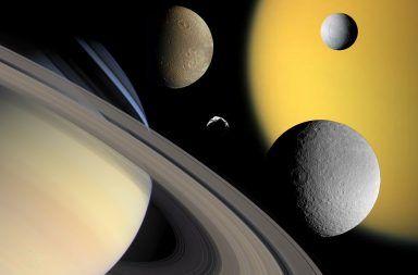 ما عدد أقمار كوكب زحل الأقمار في النظام الشمسي المجموعة الشمسية العملاق الغازي الأقمار التي تدور حول كوكب زحل تايتان هايبريون