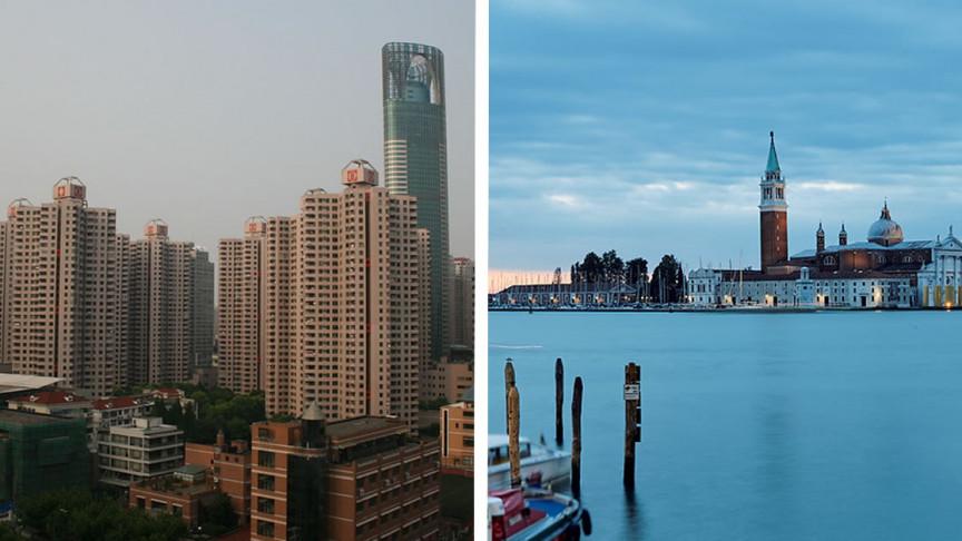 وزن المدن الهائل يجعلها تغرق، إضافة إلى ارتفاع مستوى سطح البحر - أخذ عوامل الغرق في نماذج مخاطر تغير المناخ - غرق المدن الساحلية