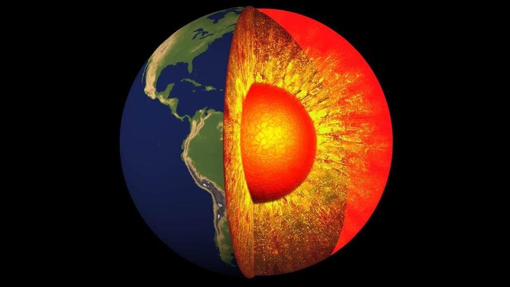 مكونات نواة الأرض - مم تتكون النواة ؟