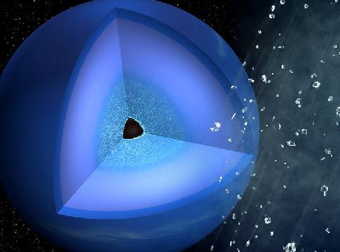 ربما عرف العلماء أخيرًا سبب إمطار نبتون ألماسًا - ضغط وحرارة عاليين على روابط المركبات الهيدروكربونية - تحول الكربون المضغوط إلى الألماس - الكواكب الجليدية