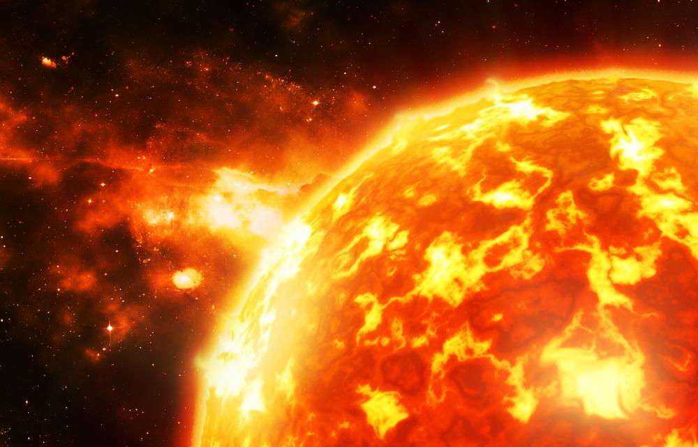 مشاعل مقذوفة من نجم محترق